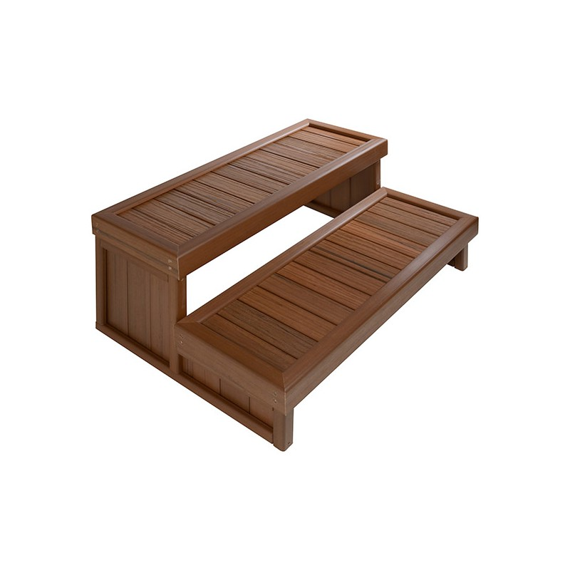marchepied escalier 2 marches pour spa poser brazilian teak jacuzzi. Black Bedroom Furniture Sets. Home Design Ideas