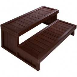 Escalier 2 marches pour spa à poser Roasted Chestnut Jacuzzi®